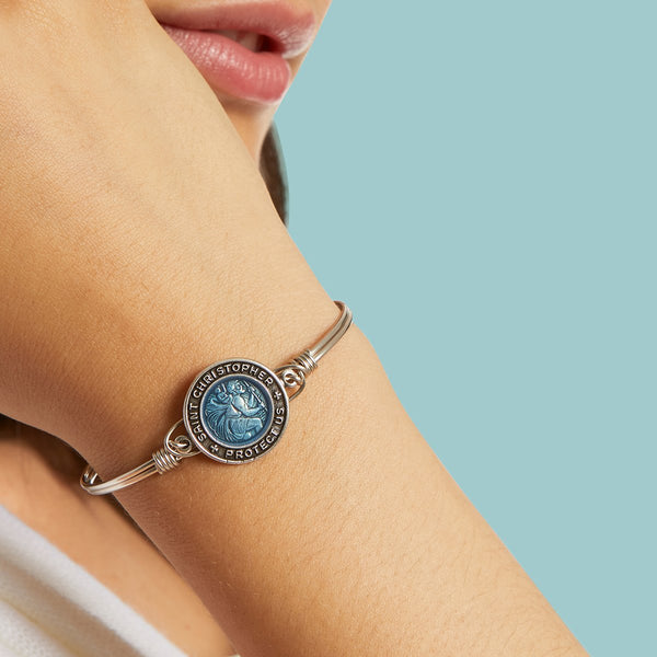 Luca & Danni Saint Christopher Bangle Bracelet