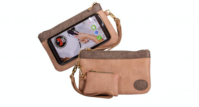 Save the Girls Catchy Clutch Touch Screen Purse
