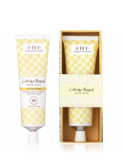 FarmHouse Fresh Citrine Beach® Body Milk Travel Lotion