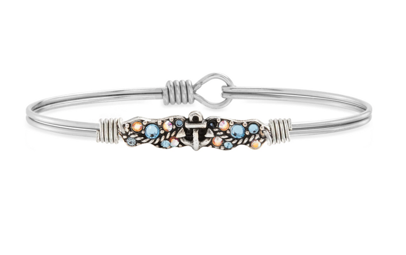 Luca & Danni Anchor Medley Bangle Bracelet