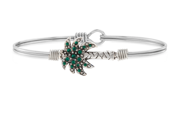 Luca & Danni: Palm Tree Bangle Bracelet - Silver