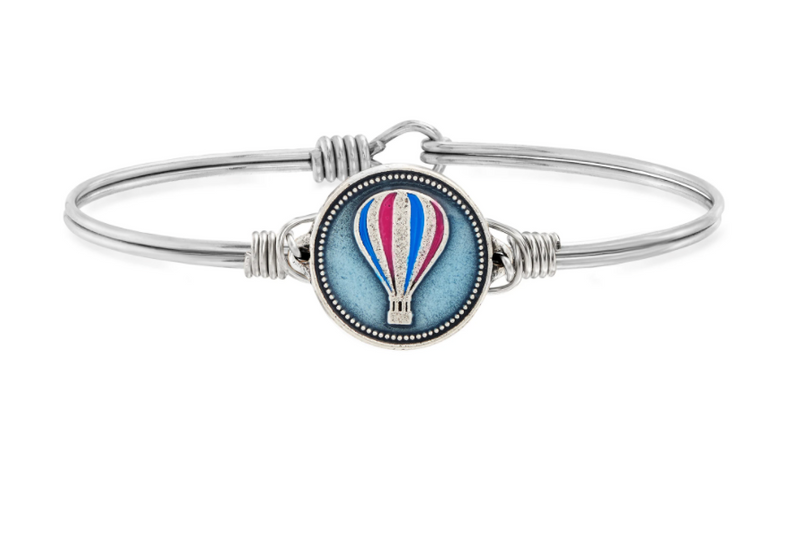 Luca & Danni: Hot Air Balloon Bangle Bracelet - Silver