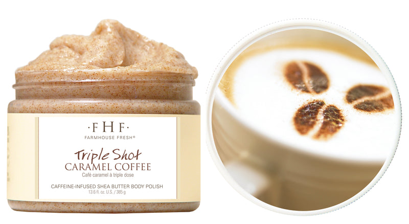 Farmhouse Fresh Triple Shot Caramel Coffee Whipped Shea Butter Body Polish