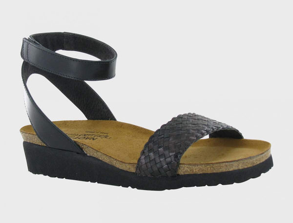 NAOT - Abbie Sandal - Black/Dark Brown