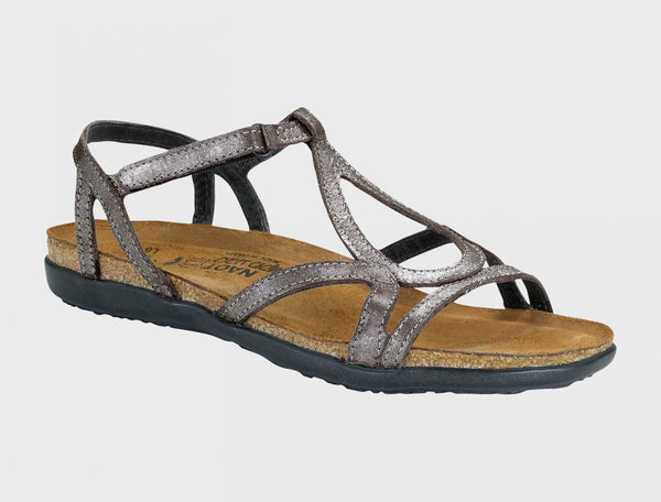 NAOT - Dorith Sandal - Silver Threads Leather