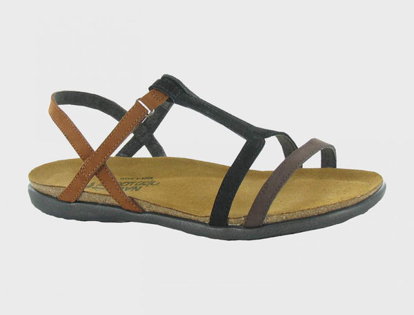 NAOT - Judith Sandal - Coffee/Black/Brown