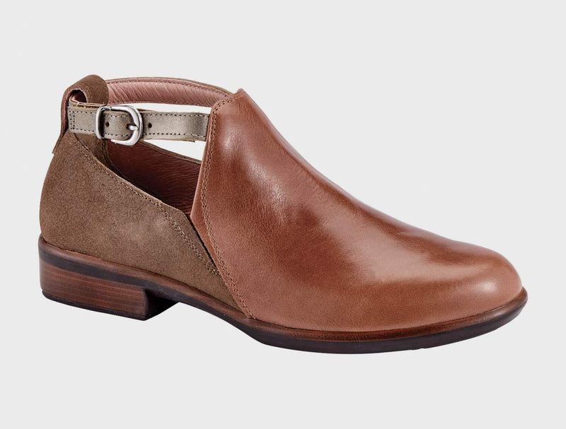 NAOT - Kamsin Shoe - Maple Brown/Antique Brown/Pewter