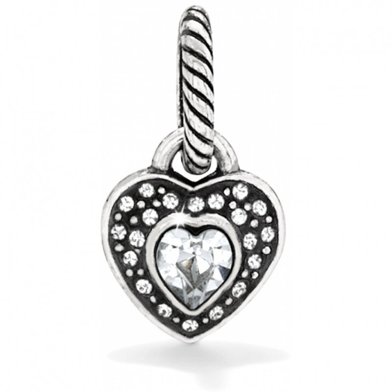 ABC Sparkle Heart Charm