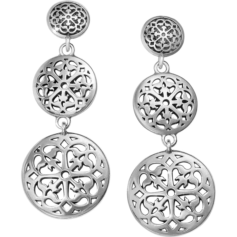 Ferrara Medallion Post Drop Earrings