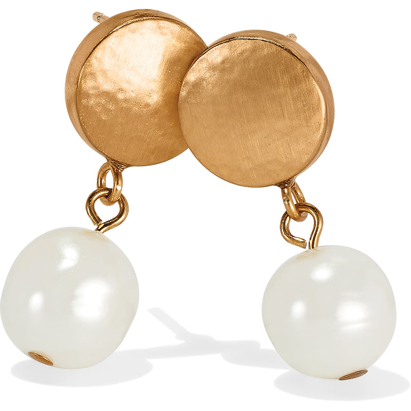 Mediterranean Pearl Post Drop Earrings