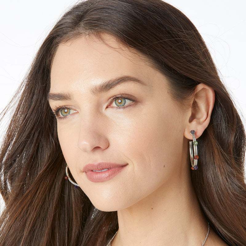 Play Of Light Hoop Earrings