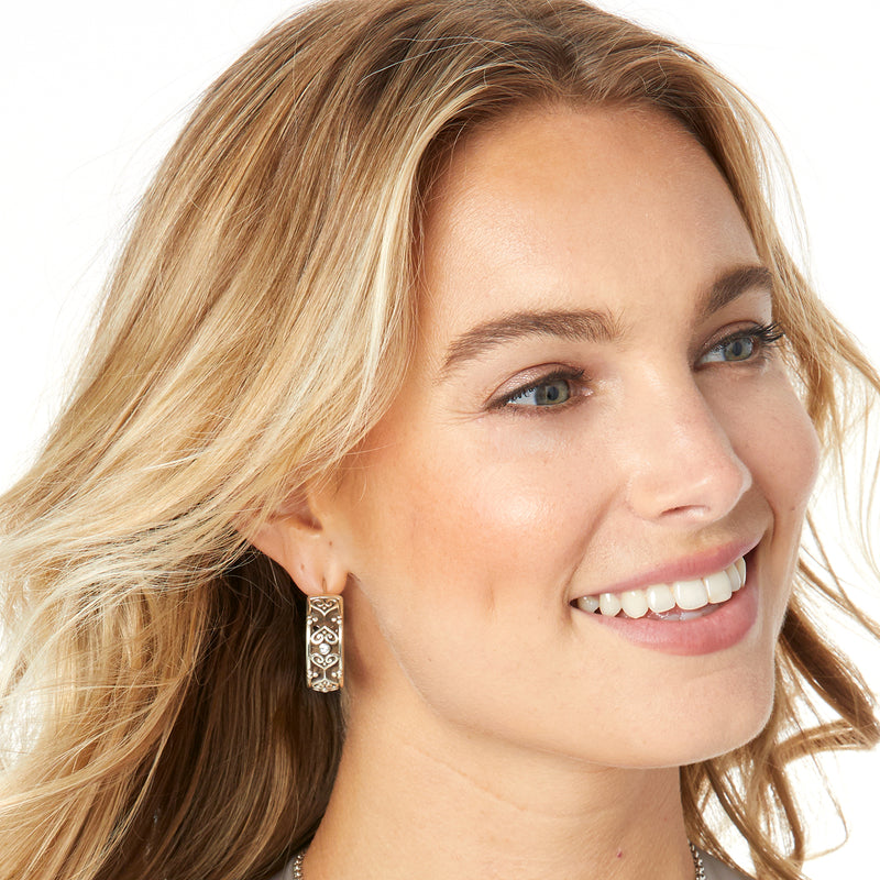Alcazar Eternity Leverback Hoop Earrings