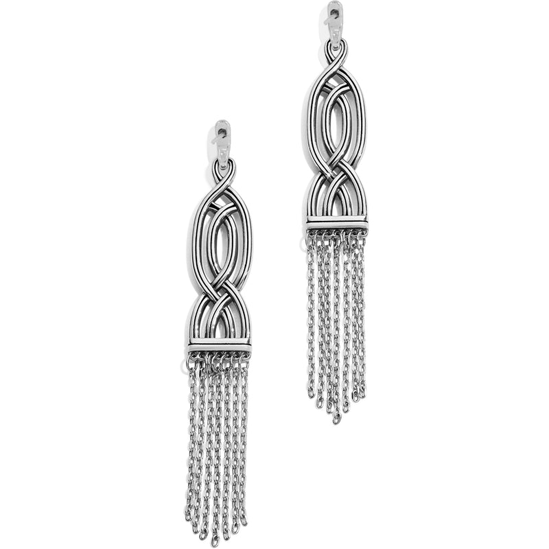 Intertwine Fringe Post Drop Earrings