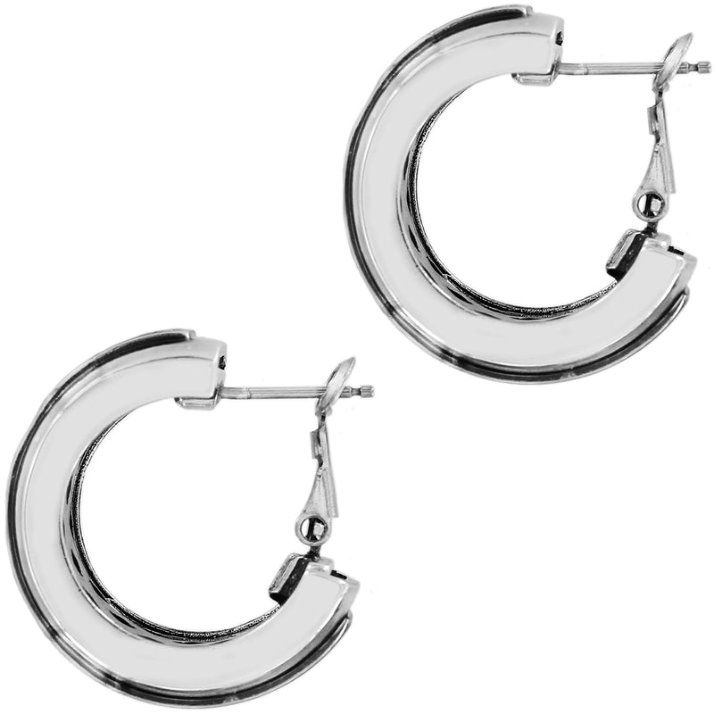Love Cage Heart Leverback Hoop Earrings