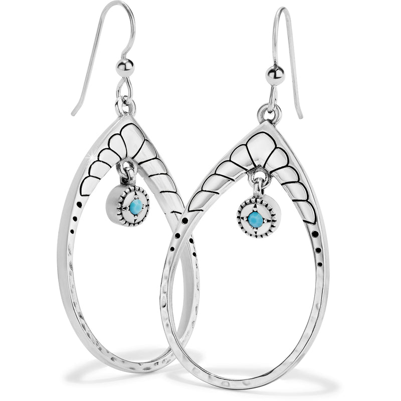 Brighton Marrakesh Mystique Open Teardrop French Wire Earrings