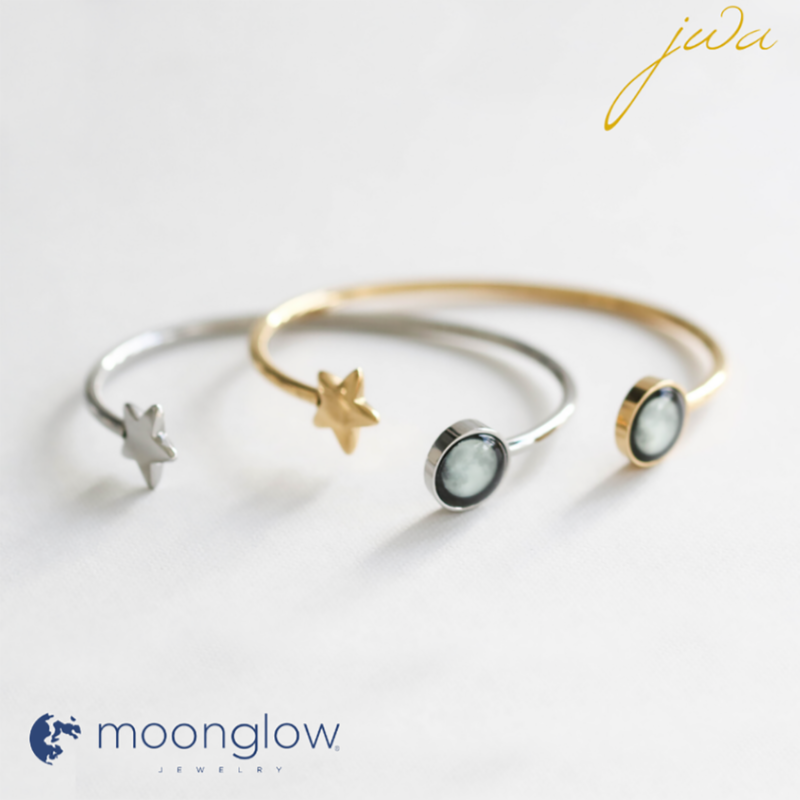 MoonGlow Cuff: Gold