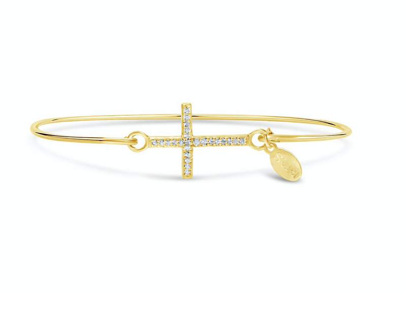 Stia Pavé Icon Bracelet Cross