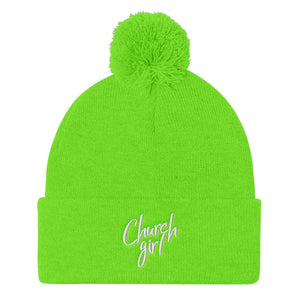 Church Girl Pom Pom Knit Cap