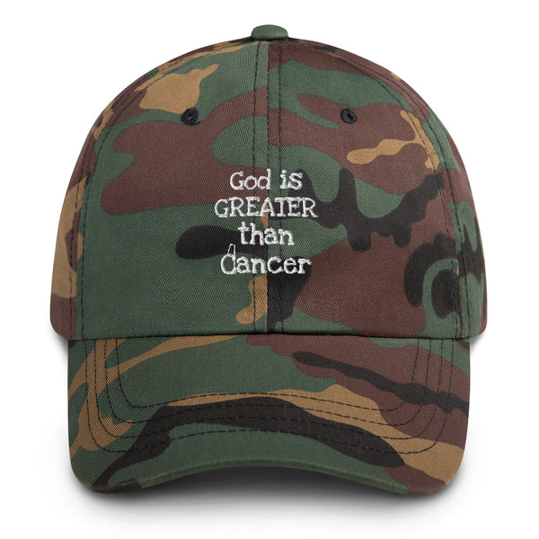 God is Greater than Cancer hat