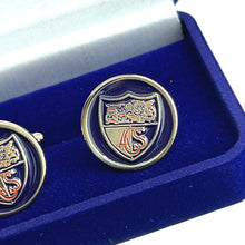 Load image into Gallery viewer, The ACS Store -  - ACS Round Inset Crest Enamel Cufflinks