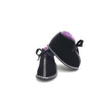 Load image into Gallery viewer, Black & Purple Booties