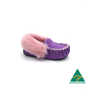 Kid's Purple & Pink Moccasins