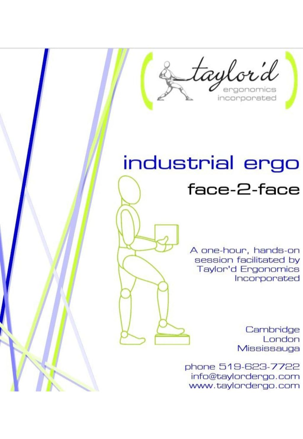 cover page from employee handout for industrial ergonomics workshop for employees