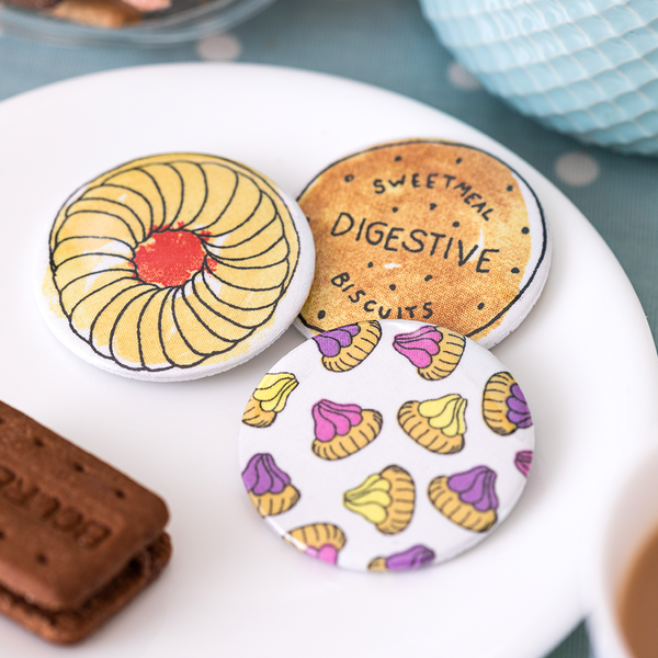 Large Biscuit Badges
