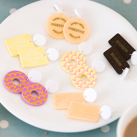 British Biscuit Mix'n'Match Earrings