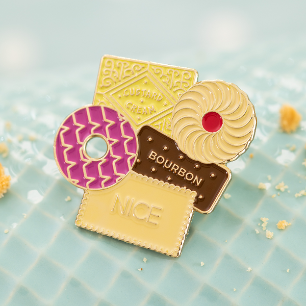 British Biscuits Enamel Pin