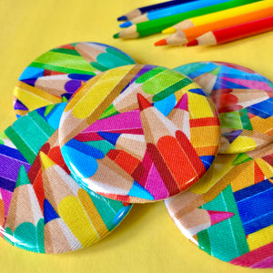Coloured Pencils Fabric Badge