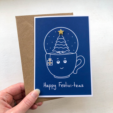 Happy Festivi-teas A6 Card