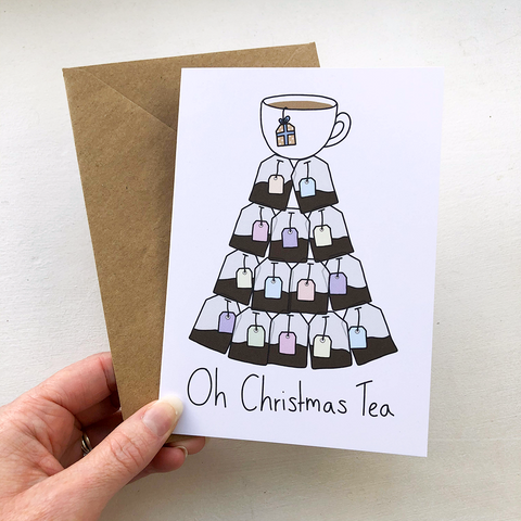 Oh Christmas Tea A6 Card