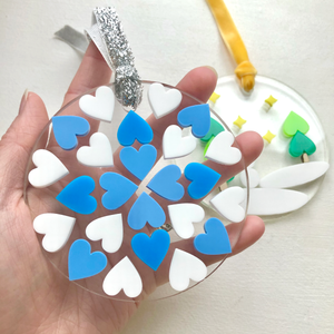 Heart Snowflake Christmas Decoration