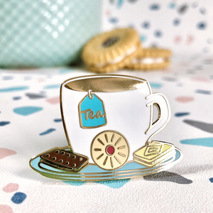 Tea & Biscuits Pin