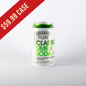 Smirnoff Pure Lime and Soda 330ml Cans