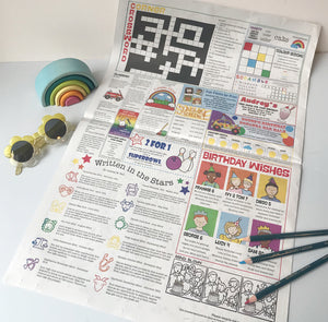 Rainbow Wrap: Newspaper gift wrap Multibuy x3