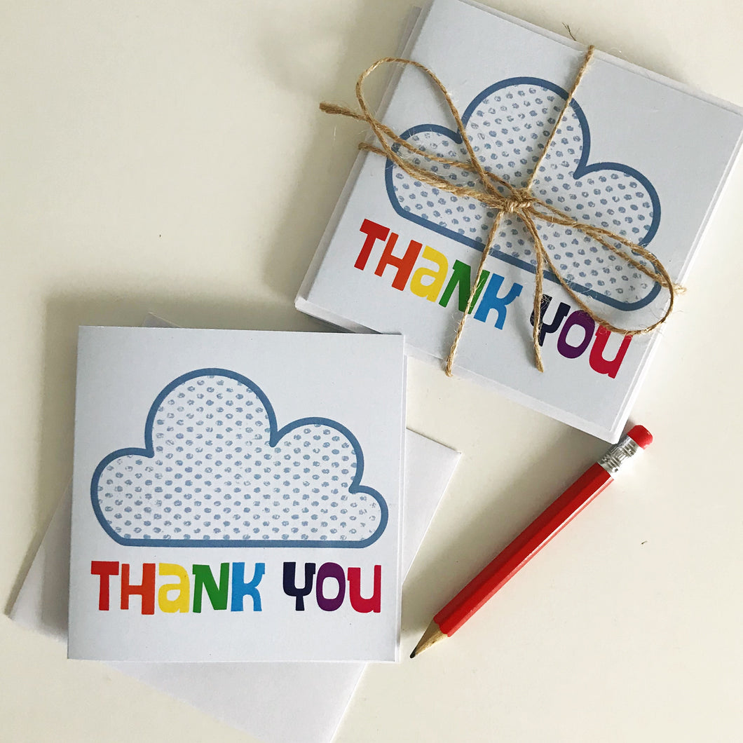 Rainbow Thank You Cards 5 Pack