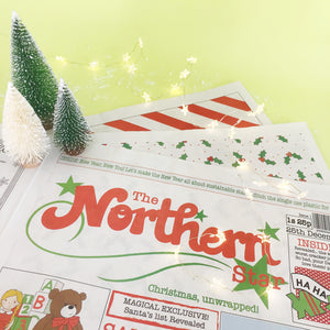 5 Copies of The Northern Star: Newspaper Gift Wrap Multi buy offer