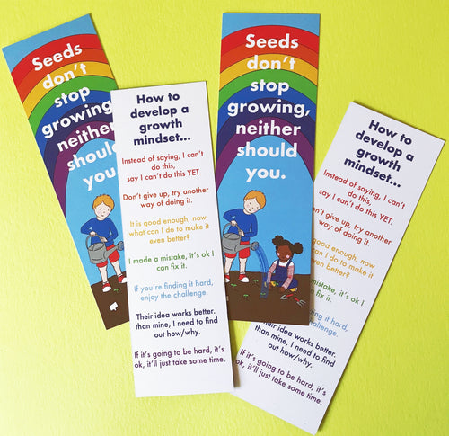 Growth Mindset Bookmarks: Seconds