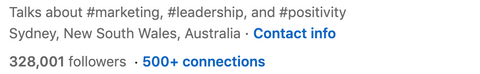 500 Connections on LinkedIn