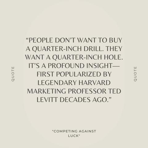 Competing Against Luck Book Summary The Story of Innovation and Customer Choice Quote 2