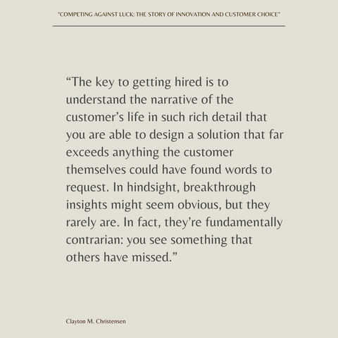 Competing Against Luck Book Summary The Story of Innovation and Customer Choice Quote 4