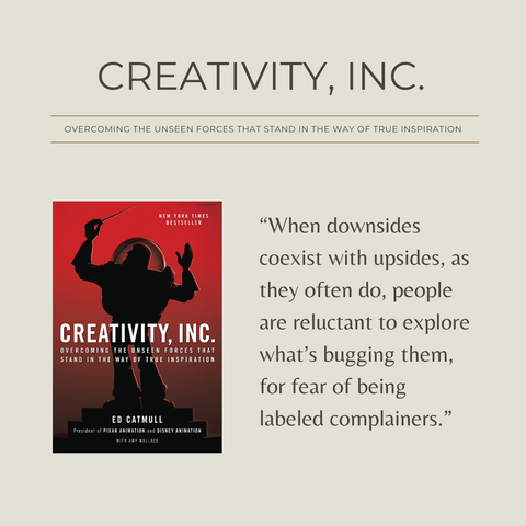 Creativity, Inc. Book Summary Overcoming the Unseen Forces That Stand in the Way of True Inspiration Quote 1