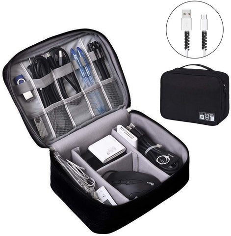 Electronics Organizer, OrgaWise Electronic Accessories Bag Travel Cable Organizer Three-Layer