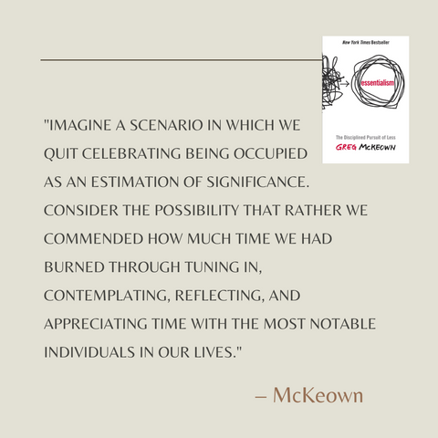 Essentialism Book Summary The Disciplined Pursuit of Less Quote 1