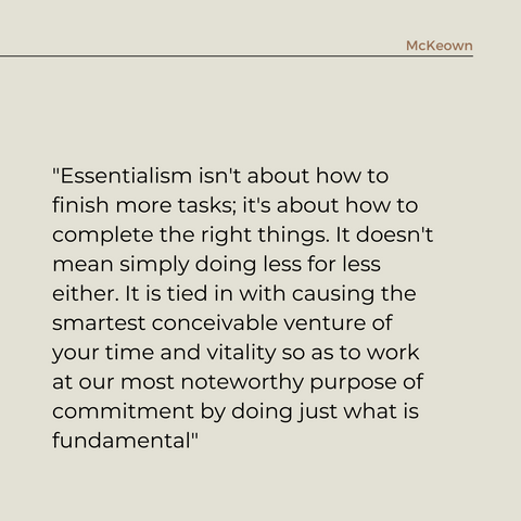 Essentialism Book Summary The Disciplined Pursuit of Less Quote 2
