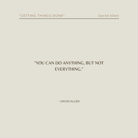 Getting Things Done Book Summary The Art of Stress-Free Productivity Quote 2