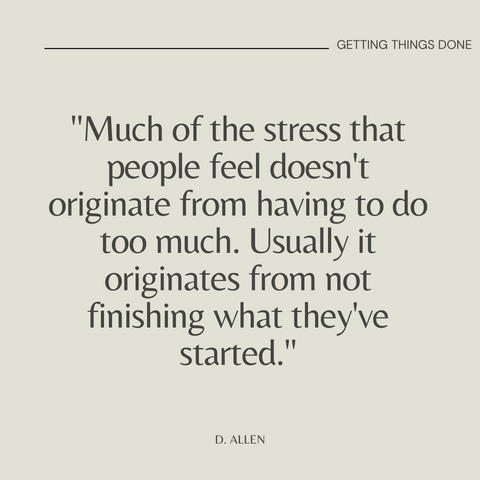 Getting Things Done Book Summary The Art of Stress-Free Productivity Quote 3