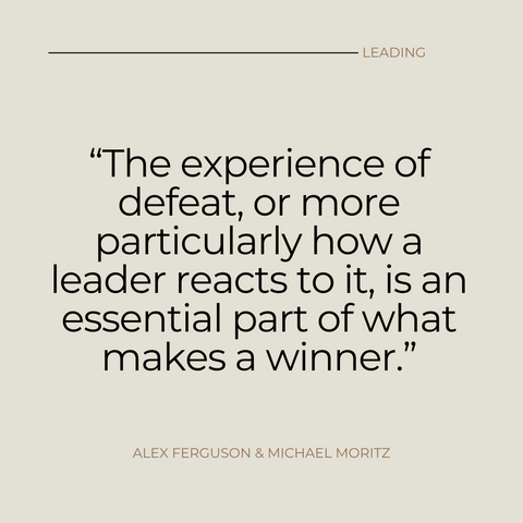 Leading Book Summary Learning From Life and My Years at Manchester United Quote 2